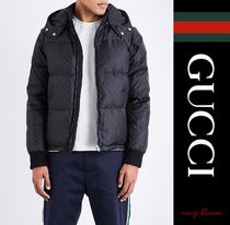【国内発送】GUCCI ジャケット Hooded logo-print shell jacket