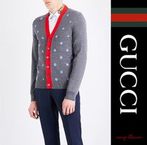 【国内発送】GUCCI カーディガン Bee embroidered wool cardigan