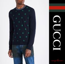 【国内発送】GUCCI セーター Bee-embroidered wool jumper