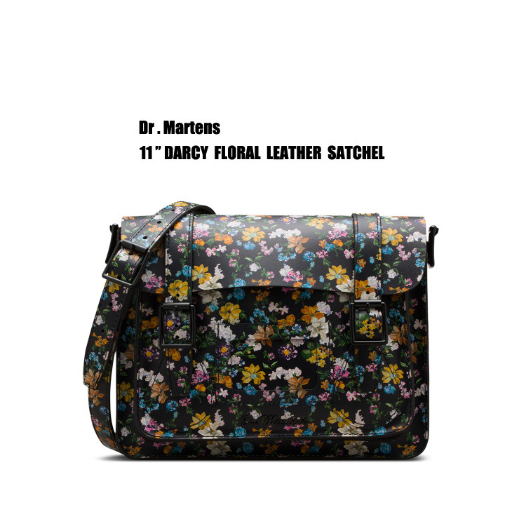 "Dr Martens★11"" DARCY FLORAL LEATHER サッチェル★花柄"