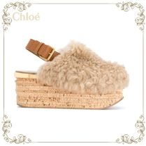 【17AW】大人気★Chloe★Camille shearling mules