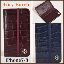 【送料/関税込】Tory Burch★Parker Croc Folio iPhone 7 ケース