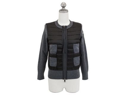 MONCLER ダウン  M TRIC CARD n17aw94748988 グレー ノーカラー