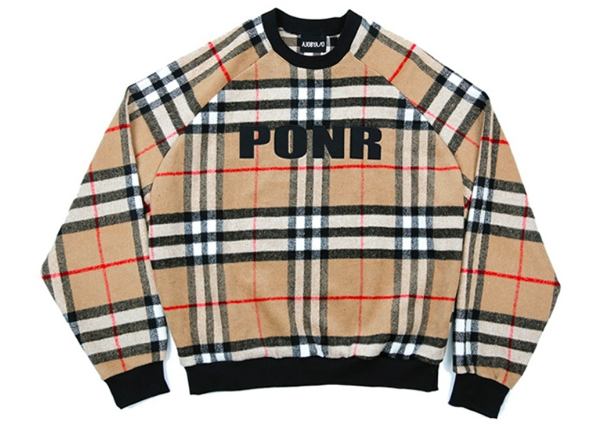 ☆日本未入荷☆AJOBYAJO PONR Wool Check Sweatshirt 2色★