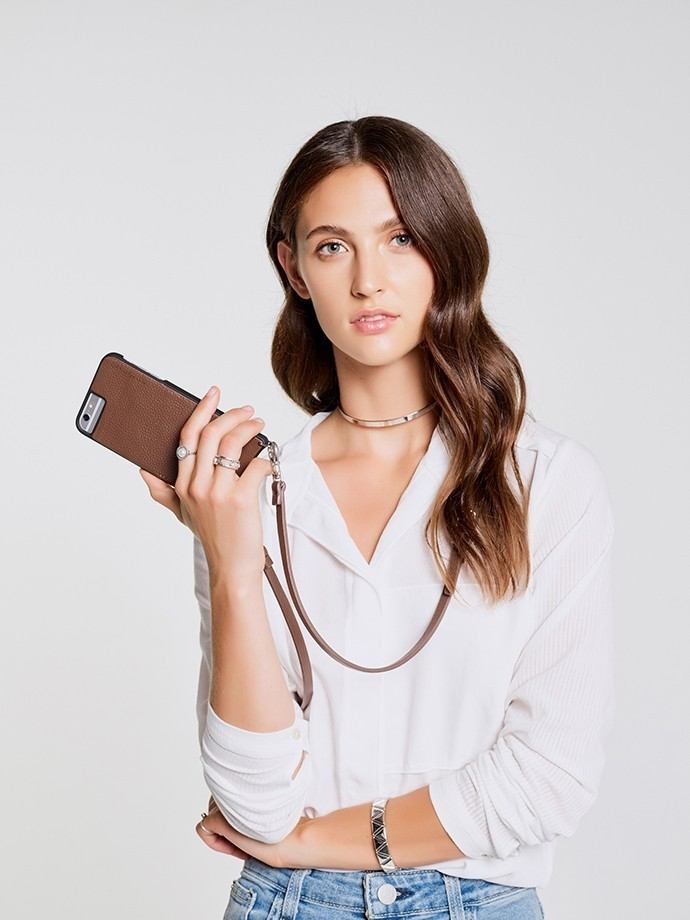 iPhone8対応!!お早めに!!Bandolier☆EMMA Brown