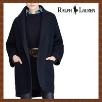 SALE★RALPH LAUREN★navy♪SINGLE BUTTON WOOL COAT