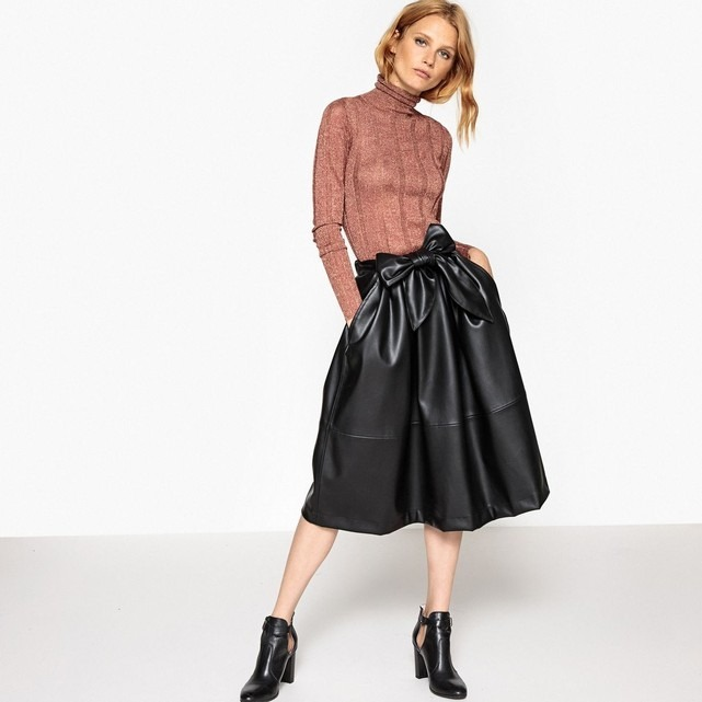 17/18AW[La Redoute Collections] フェイクレザースカート
