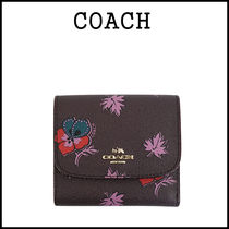 【即発3-5日着】COACH★WildFlower Printed Small wallet F15563