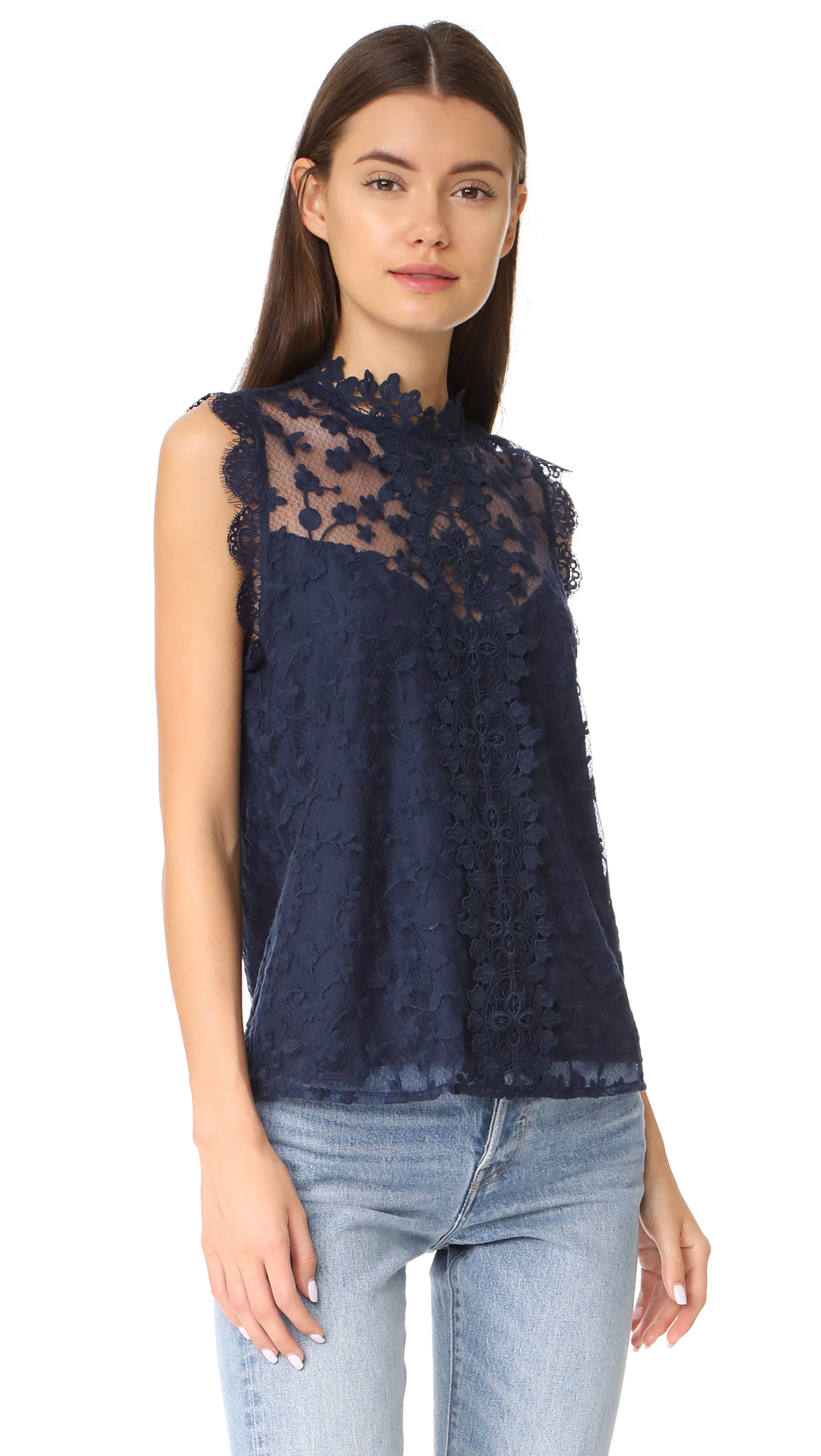 日本未入荷 Allegra Novelty Lace Tank 関送込