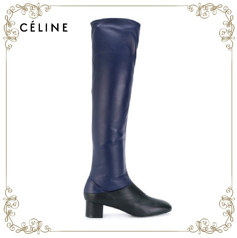 【17AW】大人気★Celine★bicolour knee length boots