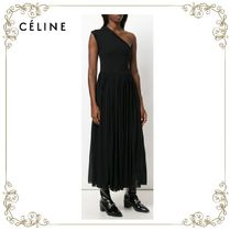 【17AW】★CELINE★one shoulder flared dress