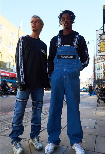 I AM NOT A HUMAN BEINGの[17FW] Basic Logo Tape Overall