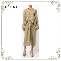【17AW】大人気★CELINE★knotted pinstripe dress