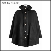 See by Chloe(シーバイクロエ)★Cape Coat with Wool★