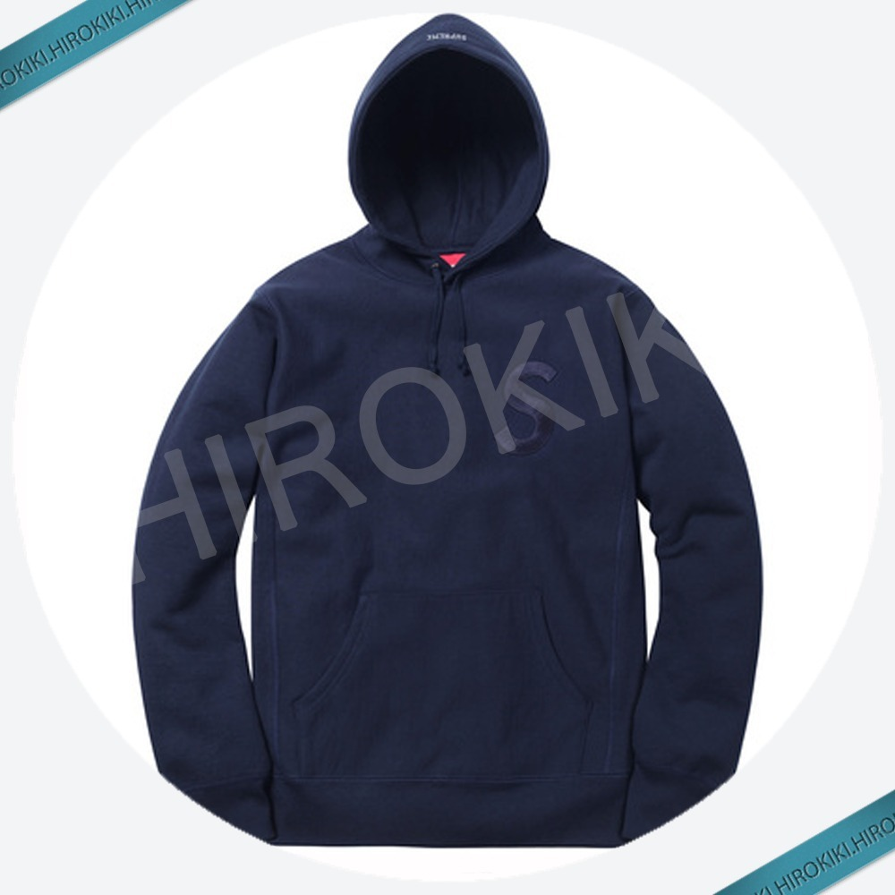 【17AW】Supreme Tonal S Logo Hooded Sweatshirt Navy ネイビー