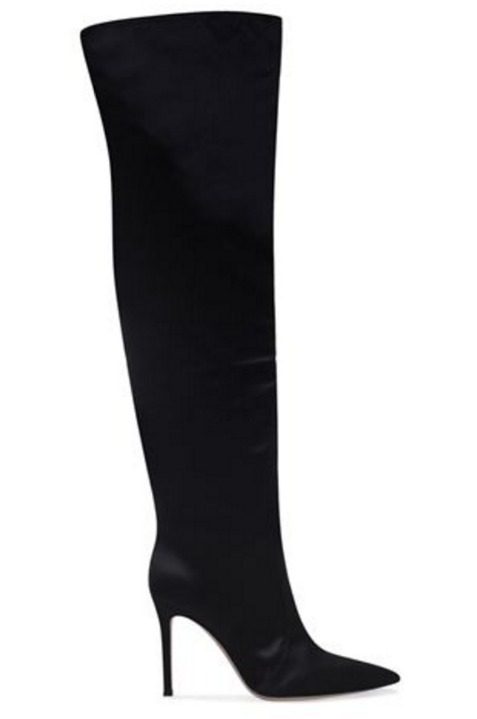 Satin Over-The-Knee Boots 105