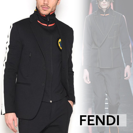 【FENDI】JACKET WITH BUTTONS AND SIDEBAND