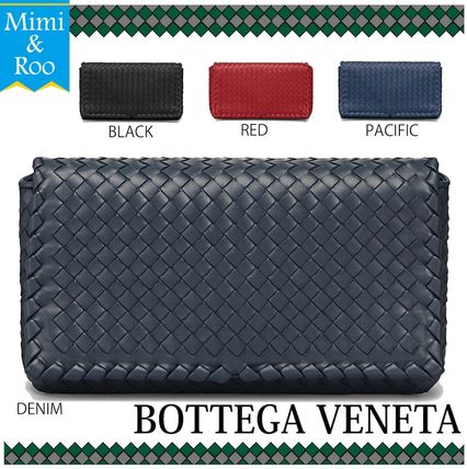 BOTTEGA*注目*MEDIUM CLUTCH BAG INTRECCIATO NAPPA LEATHER*