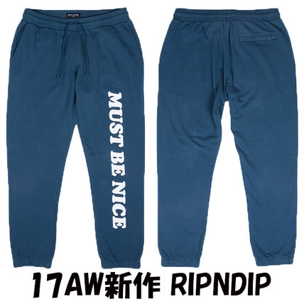 17AW新作 RIPNDIP MUST BE NICE CHILL OUT スウェットパンツ