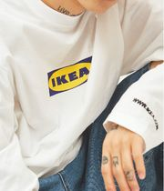 ユニセックス OPEN THE DOOR☆ ikea long sleeve T (3色)