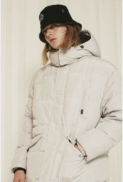 URBAND TYPEのUBDTY duck down long padding bench parka 全2色