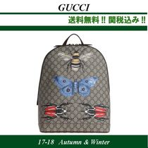 2017AW,関税込★GUCCI(グッチ) Animalier printed backpack