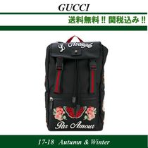 AW関税込★GUCCI(グッチ)Embellished technical fabric backpack