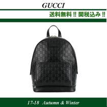 17AW関税込★GUCCI(グッチ)Gucci Signature Leather Backpack