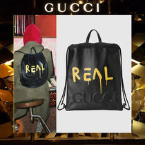 【17AW NEW】GUCCI_men/GucciGhost drawstring/バックパック