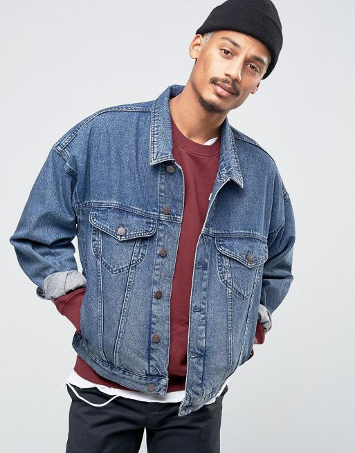 送料込ASOS Denim Jacket In Oversized Fit In デニムジャケット