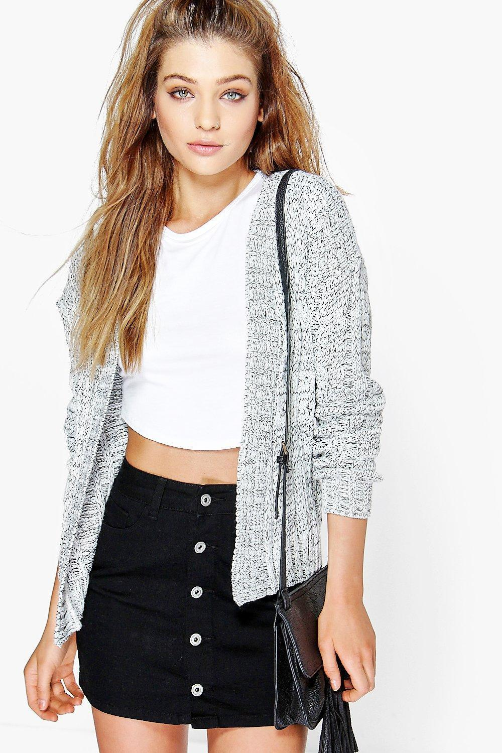 boohoo! Amy Cable Knit Edge To Edge Boyfriend C カーディガン