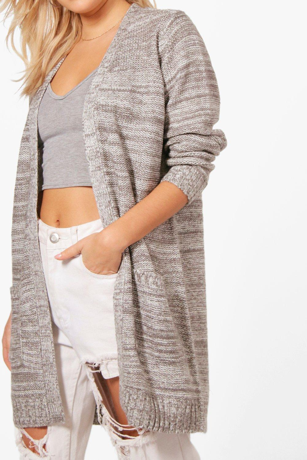 boohoo! Brooke Marl Edge To Edge Cardigan カーディガン