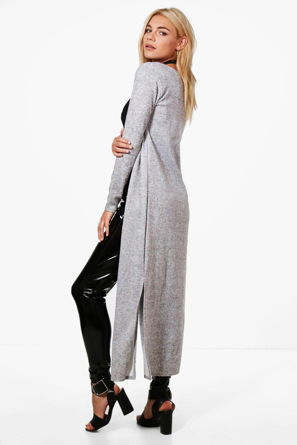 boohoo! Karen Maxi Side Split Cardigan カーディガン