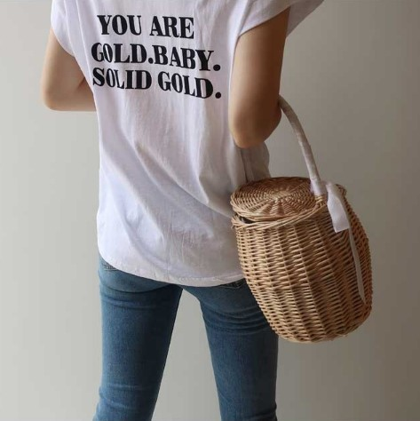 You are tee バックロゴプリントTシャツ
