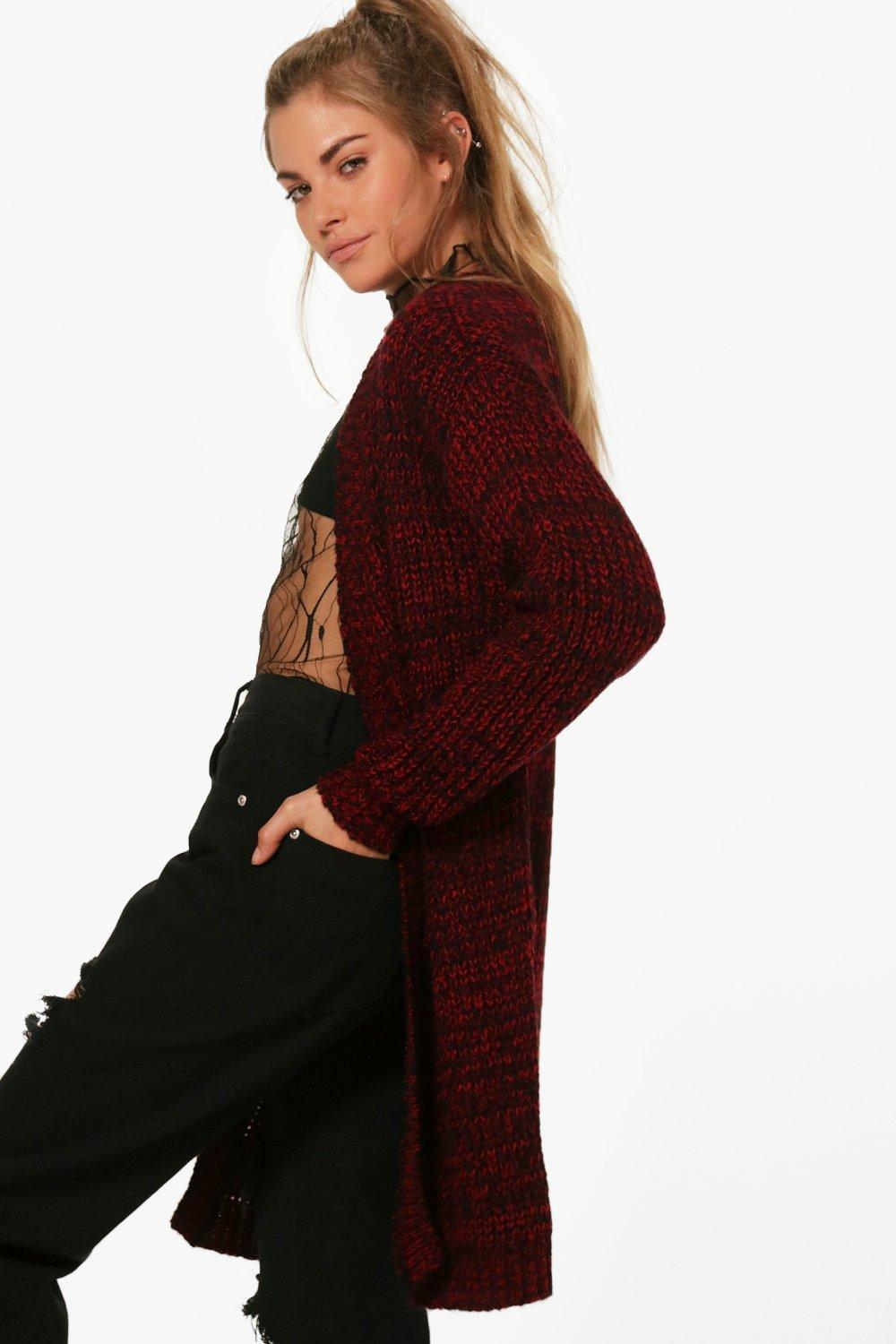 boohoo! Lydia Long Edge To Edge Maxi Cardigan カーディガン