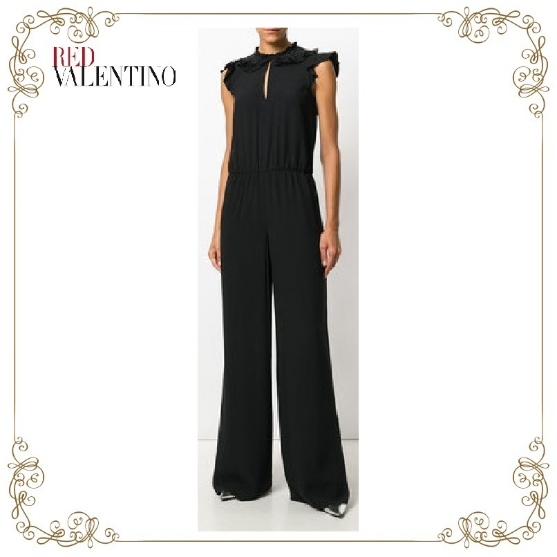 【17AW】大注目!!★RED VALENTINO★embellished collar jumpsuit