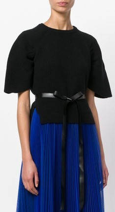 【17AW】大注目!!★RED VALENTINO★belted flared sleeved top