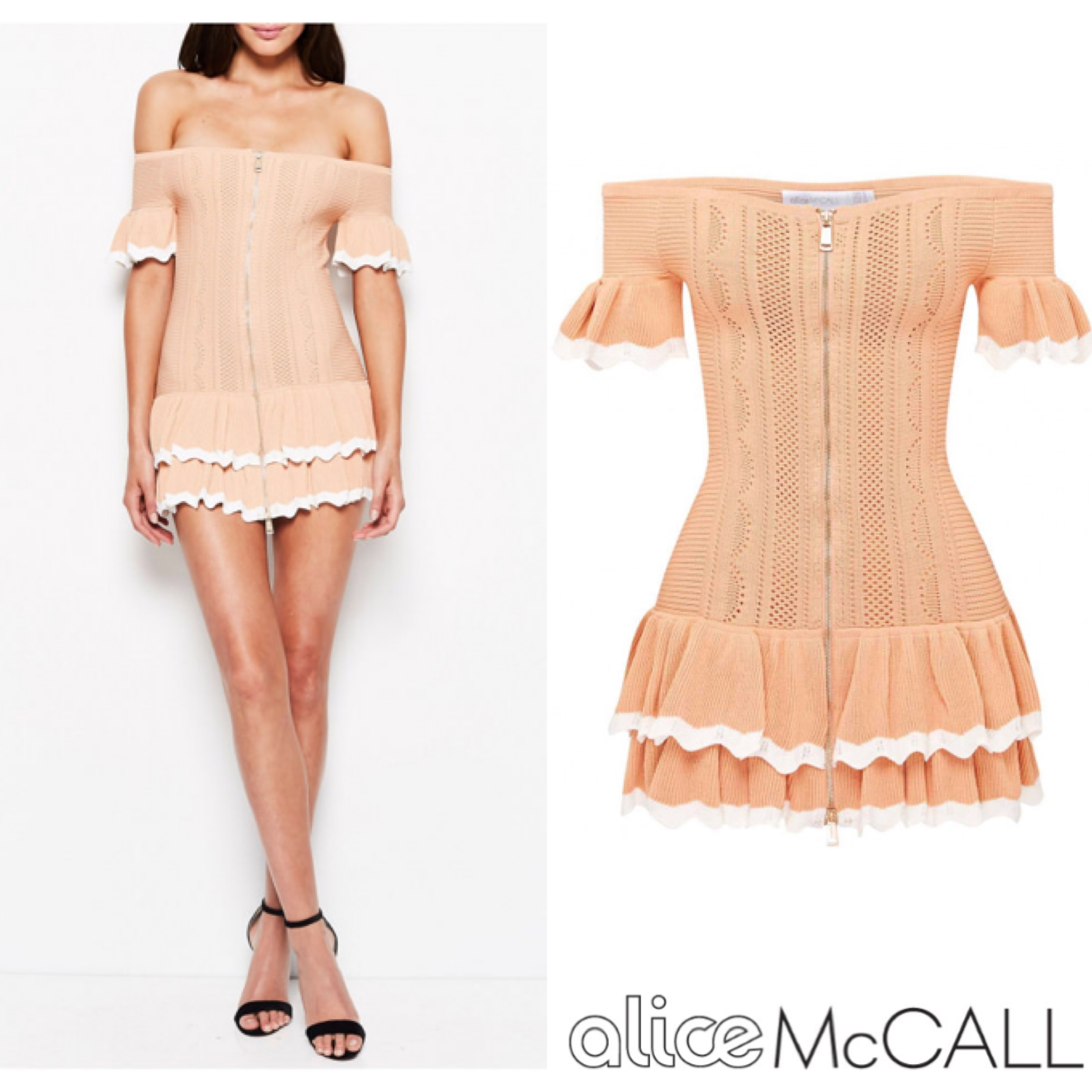 alice Mc CALL 新作ワンピース I AM YOURS DRESS APRICOT