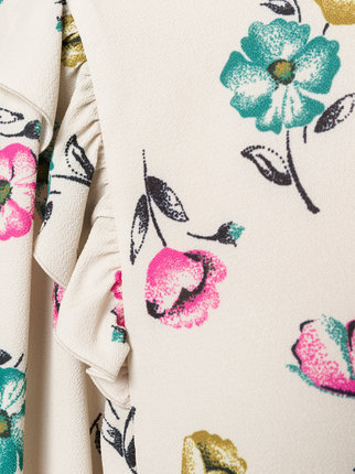 【17AW】大注目!!★RED VALENTINO★ruffled floral blouse