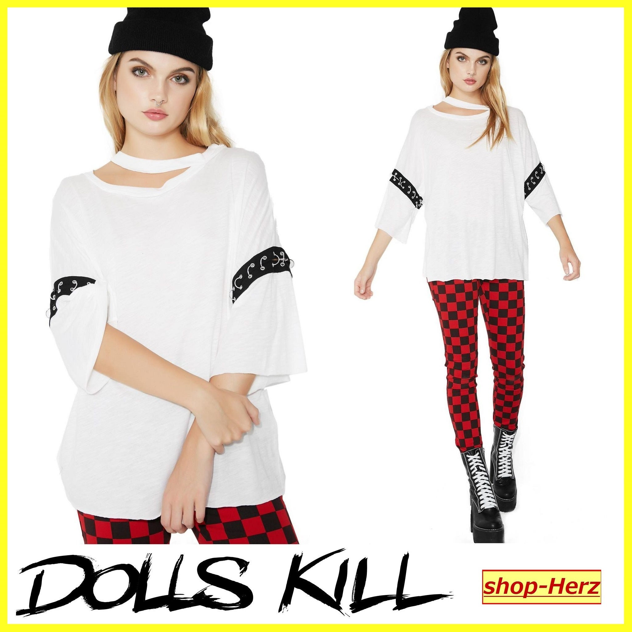 ★DOLLS KILL★ OUT FOR REVENGE O-RINGシャツ 関税込・送料無料