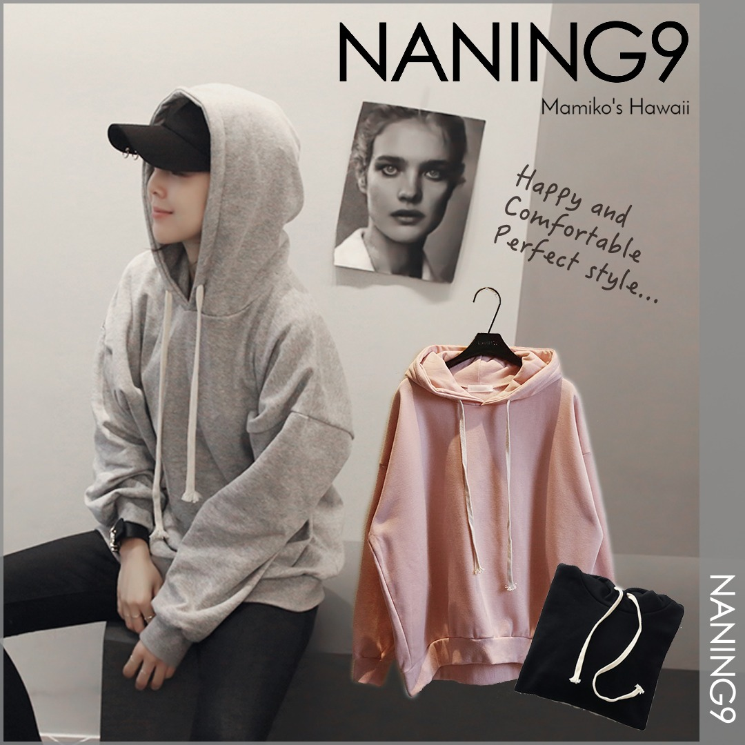 【国内発送・関税込】 NANING9 NEW! Lute brushed hooded tee