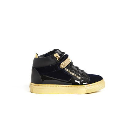 GIUSEPPE ZANOTTI スニーカー 関税込☆LEATHER VELVET VERONICA GOLD STRAP☆GIUSEPPE ZANOTTI(2)