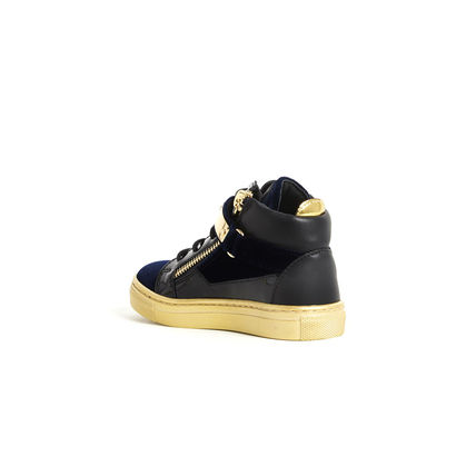 GIUSEPPE ZANOTTI スニーカー 関税込☆LEATHER VELVET VERONICA GOLD STRAP☆GIUSEPPE ZANOTTI(3)