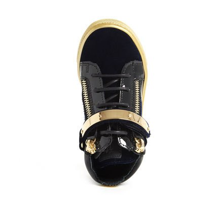 GIUSEPPE ZANOTTI スニーカー 関税込☆LEATHER VELVET VERONICA GOLD STRAP☆GIUSEPPE ZANOTTI(4)