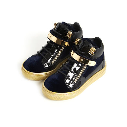 GIUSEPPE ZANOTTI スニーカー 関税込☆LEATHER VELVET VERONICA GOLD STRAP☆GIUSEPPE ZANOTTI(5)