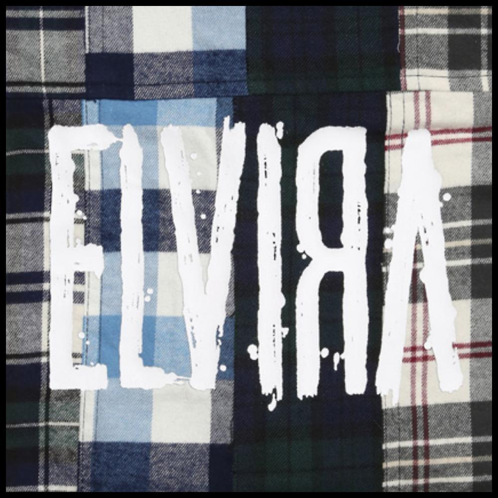 ★ELVIRA★新作 STRIPE PATCHWORK SHIRT/ BLUE (MULTI2)