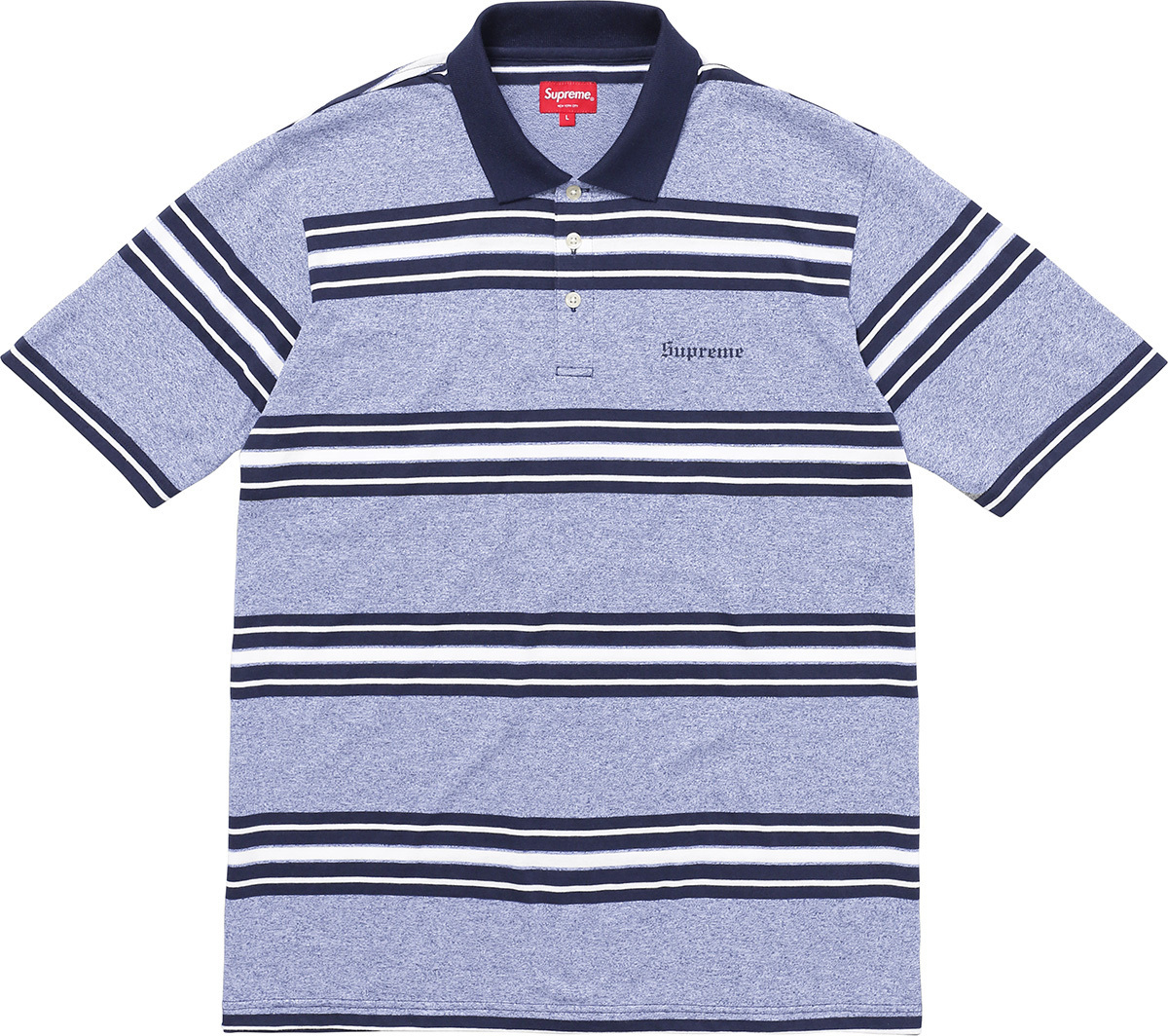 Week6新作!SUPREME17FW★Heather Stripe Polo