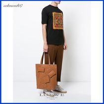 LOEWE 17AW Verticalレザーデザイントートバッグ