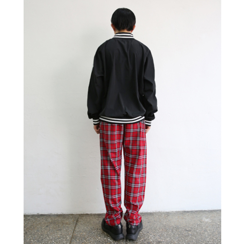 ★NEWPICKLE★日本未入荷[UNISEX] IC CHECK PANTS(RD)