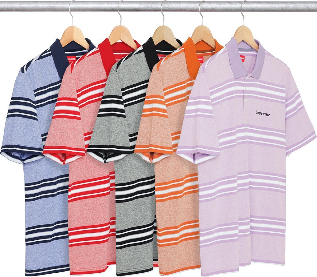 Supreme Heather Stripe Polo